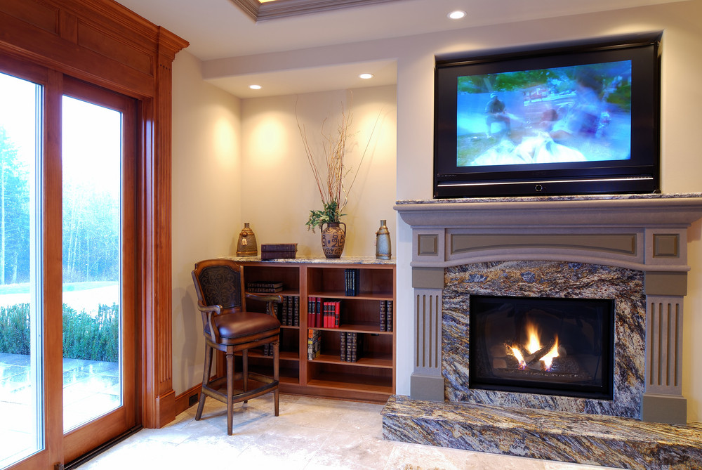 Fine Mounting A Tv Over Fireplace O 1354033893 Inside Design