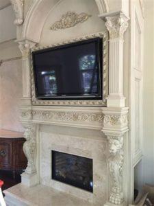 Classic interior decor TV mounting